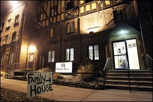 Family House is Toledo's largest family homeless shelter. Homeless shelters and city officials are at odds over funding.