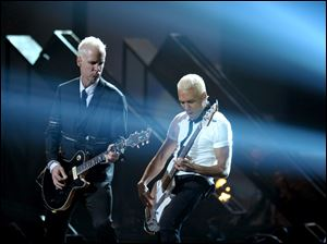 Tom Dumont, left, Tony Kanal and No Doubt perform ""