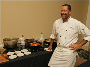 Matt Lawrence, of Mancy's Italian Grill, with his Red Wine Braised Oxtail Agnolotti during the Chef's Auction.