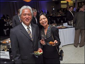 Anthony Songco and his wife Marissa enjoy the flavorful fare at the wine gala.