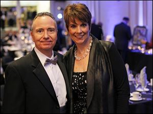 Vicky and George Brymer, of the Image Group, at the Mobile Meals wine gala.
