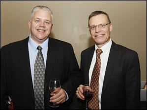 Dan Lambert, left, and Michael Price at the Wine Affair to benefit the Kidney Foundation of Northwest Ohio.