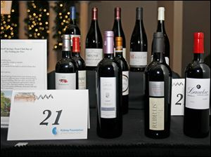 Bottles of wine were on display and up for auction during the 21st Annual Wine Affair.