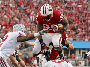Wisconsin running back Montee Ball ran for 191 yards and a touchdown on 39 carries