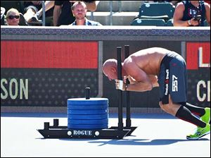 Joe Lengel, owner and trainer of CrossFit Toledo -  Intensity Fitness, competes in the 2012 CrossFit Games in July.