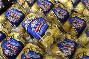 Twinkies baked goods are displayed for sale at the Hostess Brands' bakery in Denver, Colo. Hostess Brands Inc. and its second largest union will go into mediation to try and resolve their differences, meaning the company won't go out of business just yet.