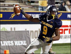 Toledo's Alonzo Russell gets in the end zone.