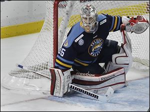 "Walleye goalie Kent Simpson ""just always wanted to be a pro hockey player."""