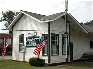 The former train depot in Plains, Ga., was Jimmy Carter's presidential campaign headquarters in 1976 and now is a museum.