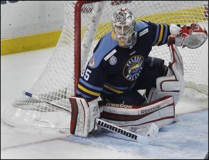 Walleye goalie Kent Simpson