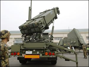 Turkey wants to use the Patriot surface-to-air missile defense system, seen here in Japan, to protect it self from Syria.