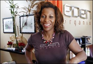 As part of Small Business Saturday, Eden Organix spa owner Valerie Robinson will give customers a 10 percent discount on products sold from 9 a.m. to noon at her business in Highland Park, N.J.