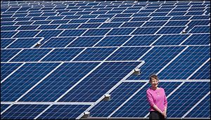 Helen Livingston has leased more than 40 acres to a solar company. The solar farm, on land that once grew cotton, is near Maxton, North Carolina, just across the South Carolina state line.