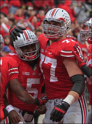 When Ohio State hosts Michigan, Reid Fragel, right, will play one last game in a role and a season he never could have envisioned.
