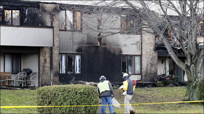 The Brandywine condominium complex on Bernywyck West Road in The Brandywine condominium complex on Bernywyck West Road in Monclova Township is pictured Friday morning, following a fire Thursday evening.