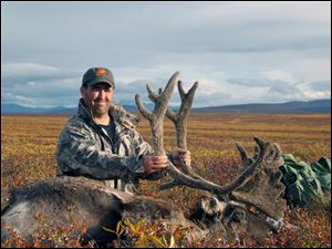 Tim Newlove with trophy caribou.