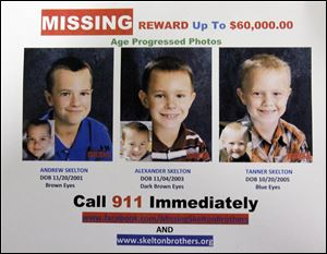 Photos of what Andrew, Alexander, and Tanner might look like now have been posted on the National Center for Missing and Exploited Children's Web site.