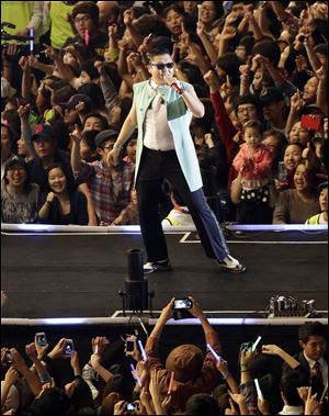 South Korean rapper PSY, who sings the popular