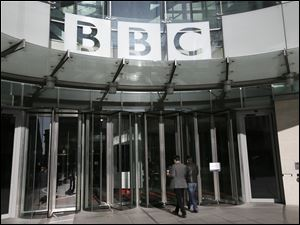 A general view of the BBC headquarters in London.