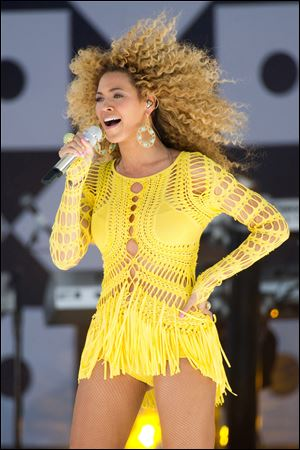 "Beyonce performs on ABC's ""Good Morning America"" in New York."