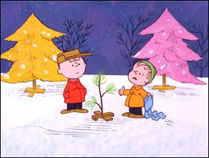 Charlie Brown and Linus appear in a scene from 1965's 'A Charlie Brown Christmas,' a television special based on the 'Peanuts' comic strip by Charles M. Schulz.