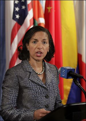 U.S. Ambassador Susan Rice requested today's closed-door meeting with 3 GOP senator.