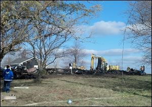 A fire destroyed a single-family home in Seneca County early today.