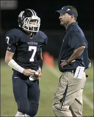 Napoleon head coach Tory Strock was named coach of the year in Division III.