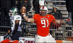 Bowling Green's Chris Jones was named the MAC defensive player of the year Wednesday.
