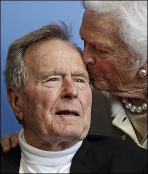 Former President George H.W. Bush, and his wife former first lady Barbara Bush.