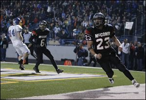 McComb running back Jerry Brown, 23, was named the Division VI co-offensive player of the year on the Associated Press All-Ohio football team.