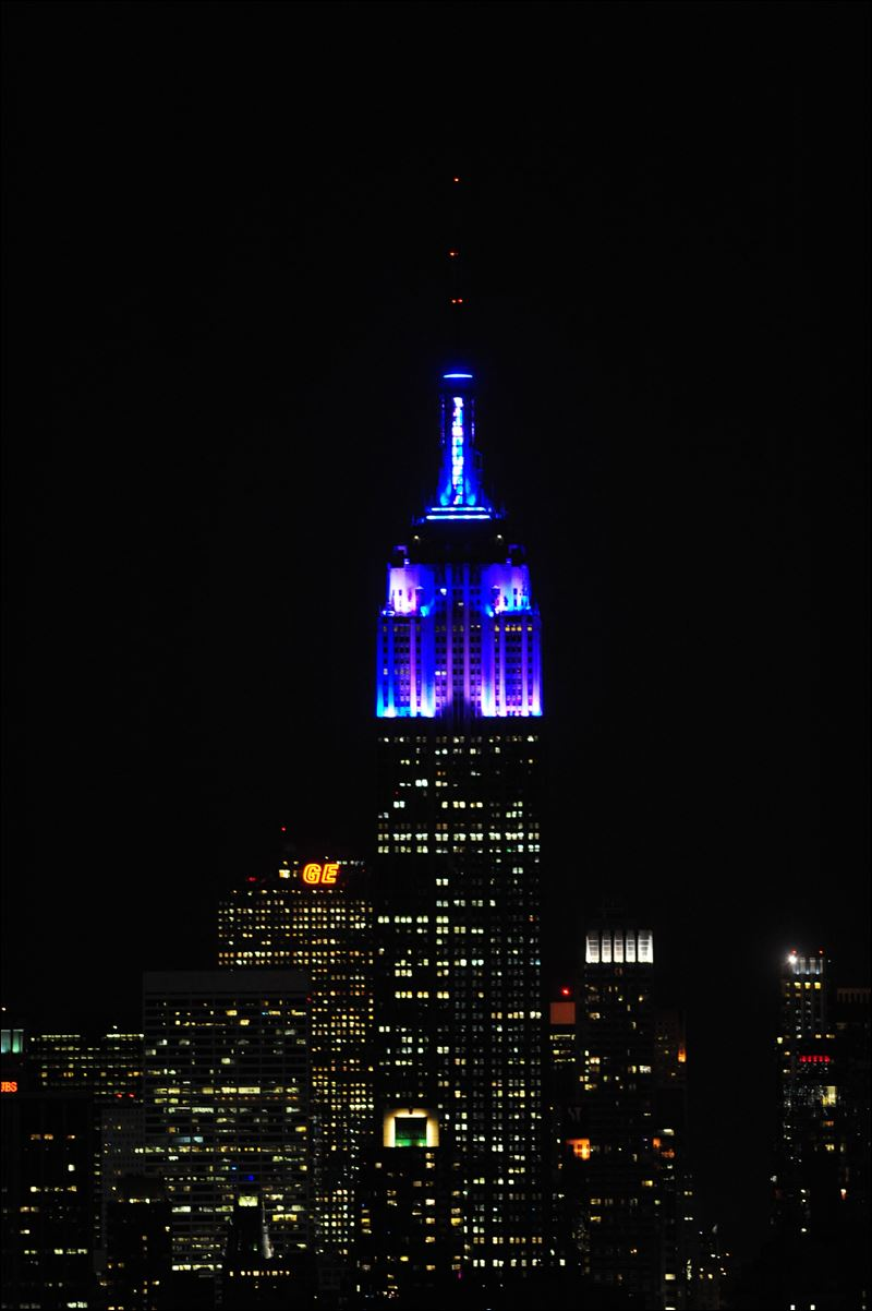 New Light Of Myanmar Daily Journal: Empire State Building Surprises NY With New Lights