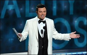 Seth MacFarlane made a surprise appearance at UCLA to announce a contest sponsored by the Academy of Motion Picture Arts and Sciences and MTV that will allow winning college students to appear on the Feb. 24 Oscar telecast.
