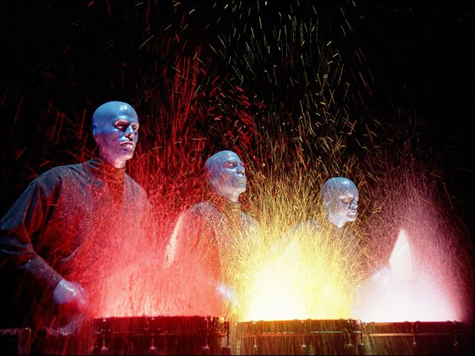 The Blue Man Group The Blue Man Group begins an eight-show stand at the Stranahan Theater on Tuesday.