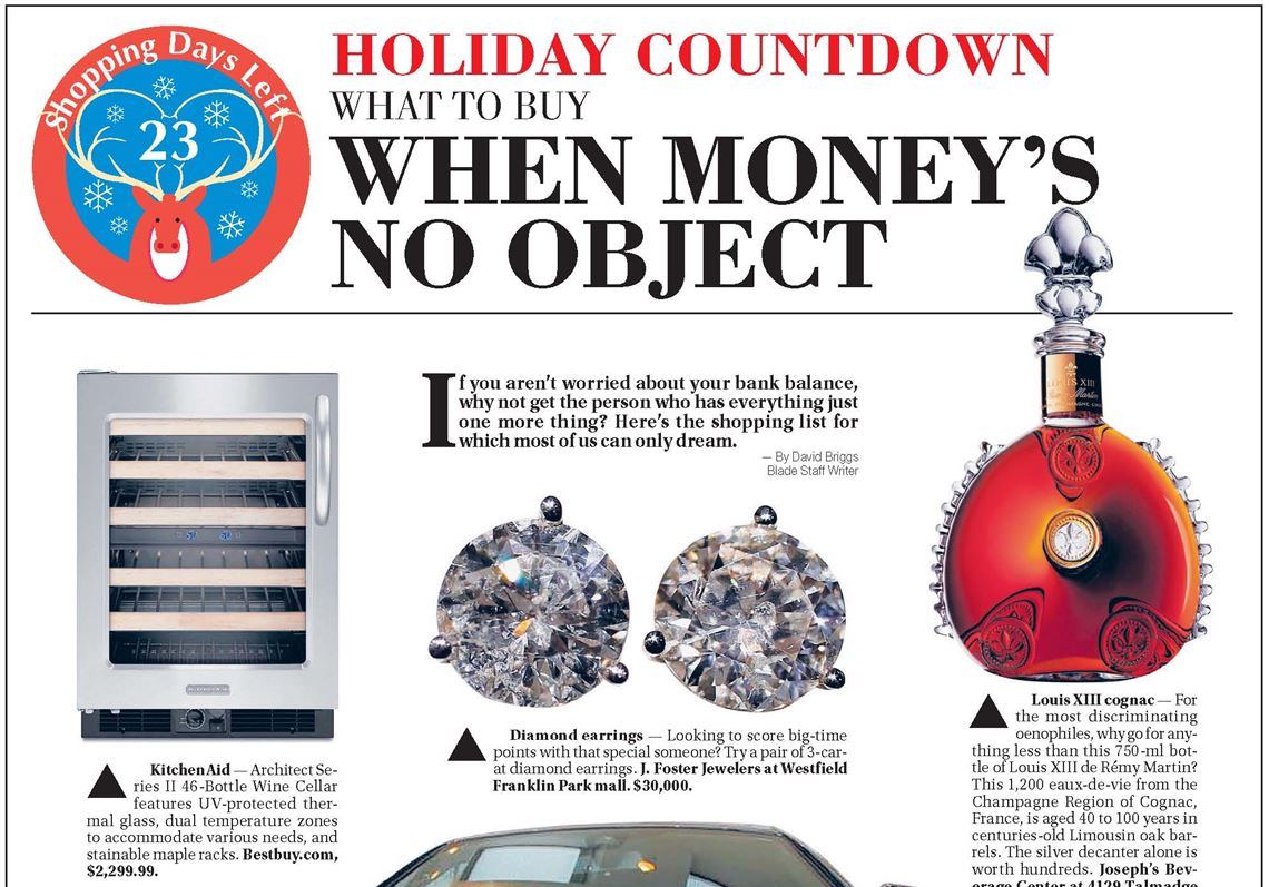 Holiday Countdown Gift Guide: When money's no object | Toledo Blade