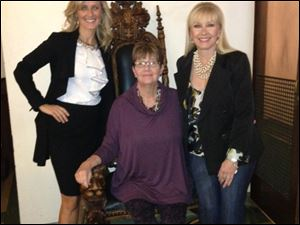 Sandy Skala, Beth Bowman, and Joannie Barrett were models at the Toledo Symphony League's HOW to Look Fabulous.
