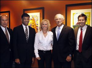 From left, Chris Amato, Jay Jindal, Sondra Gibbons, Michael Gibbons, and Sean Savage at the Pinnacle.