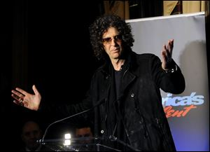 "SiriusXM satellite radio talk show host Howard Stern speaks to the media about his new role as a judge on ""America's Got Talent"" in New York."