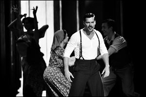 Ricky Martin performs with the cast of 'Evita' at the 66th Annual Tony Awards on June 10 in New York. The Latin superstar will be leaving the show in January.