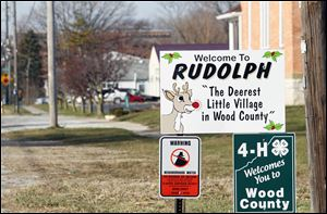 Postal receipts increase by $8,000 to $10,000 each December in Rudolph, Ohio.