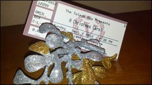 Ornament favors from the Holly Ball and my ticket from