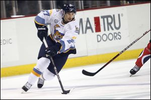 Terry Broadhurst has scored 16 points in his first 22 games as a professional. He recently was named Walleye player of the week.