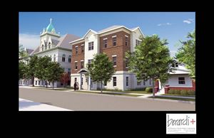 A drawing shows how the former St. Hedwig School would look after its $7 million renovation by United North. The school would be turned into a senior housing complex with 41 units.