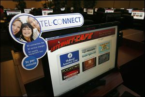 The Player's Club Internet Cafe owned by Robert Dabish of Oregon has computers scattered around the room for players to win prizes.