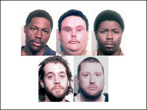 From top, left, Deitrekk Boone, Chad Brown, Devonte Harris, bottom, left, Jason Kuhns, Matthew Managhan.