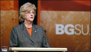 Bowling Green State University President Mary Ellen Mazey  delivers her annual State of the University address September 19, 2012.