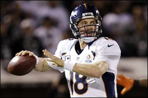 Denver Broncos quarterback Peyton Manning became the fastest quarterback to reach 5,000 career completions and earned his record 12th 10-win season as a starter.