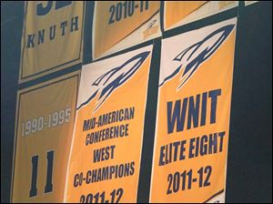 Banners reflecting the team's accomplishments last season were unveiled.