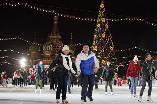 Red-square-skating