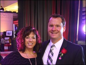 Central Catholic High School's The One Evening event emcee Steve Scarbrough and wife Carey.